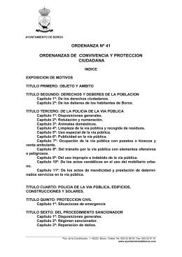 Actualizada ordenanza municipal nº 41