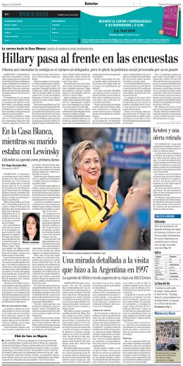 Hillary pasa al frente en las encuestas