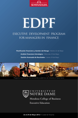 executive development program for managers in finance