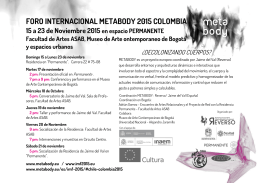 FORO INTERNACIONAL METABODY 2015 COLOMBIA 15 a 23 de