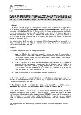 PLIEGO DE CONDICIONES TECNICAS PARA LA