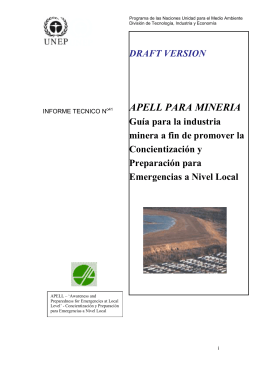APELL FOR THE MINERALS INDUSTRY