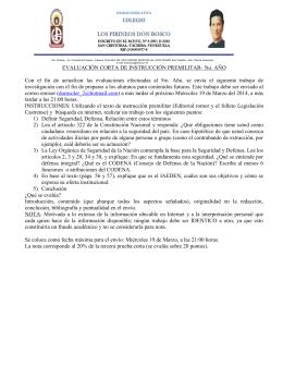 EVALUACIÓN CORTA DE INSTRUCCIÓN PREMILITAR