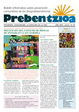 Boletín informativo sobre prevención comunitaria de las