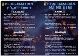 folleto con la programación del día del libro