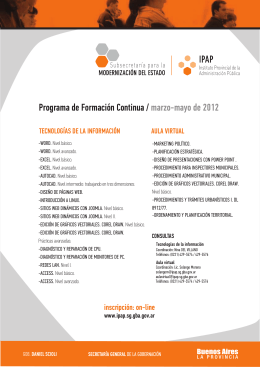 Acceda al folleto sobre cursos en Tecnologías de la Información y