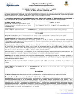 ETICA OCTAVO II - Colegio Colsubsidio Torquigua IED
