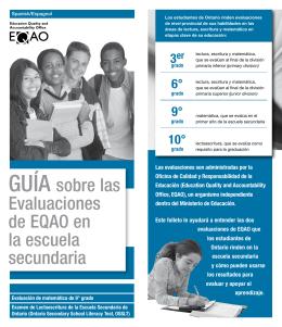 GUÍA sobre las Evaluaciones de EQAO en la escuela secundaria