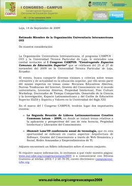 Invitación I Congreso CAMPUS