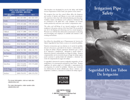 Irrigation Pipe Safety - California State Compensation Insurance Fund
