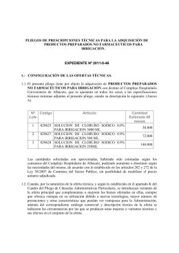 INFORTECNIC 2011-0-46 - Complejo Hospitalario Universitario de