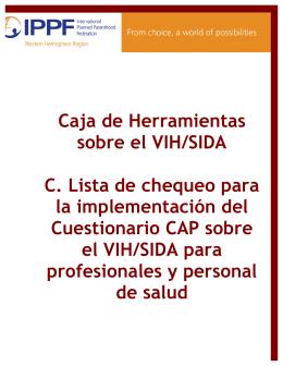 Sección C: Lista de chequeo para la implementación del cuestionario