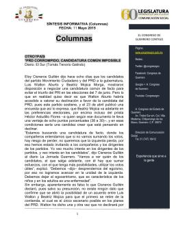 11 mayo de 2015 columnas - H. Congreso del Estado Libre y
