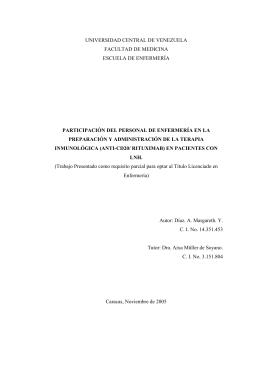 PARTICIPACIÓN DEL PERSONAL DE ENFERMERÍA