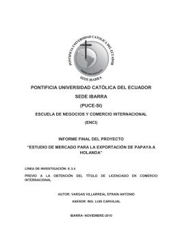 pontificia universidad católica del ecuador sede ibarra (puce-si)
