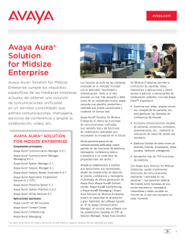 Avaya Aura® Solution for Midsize Enterprise