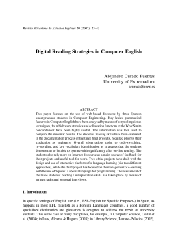 Digital Reading Strategies in Computer English