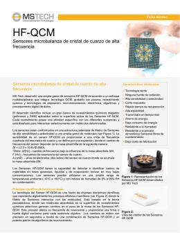 HF-QCM - MS Tech