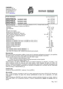 IDROFIRE/O - Carver S.r.l.