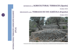REFERENCES on AGRICULTURAL TERRACES (Spain)