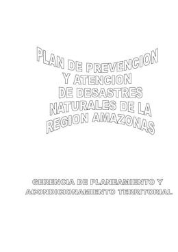 Plan de prevención y atención de desastres Región Amazonas