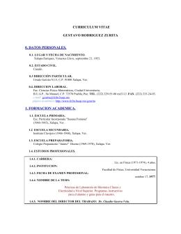 Curriculum vitae (CV)  - FCFM