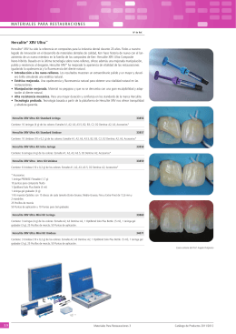 Herculite® XRV Ultra™ MATERIALES PARA RESTAURACIONES