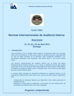 Progresar compartiendo - Instituto de Auditoría Interna y Gobierno