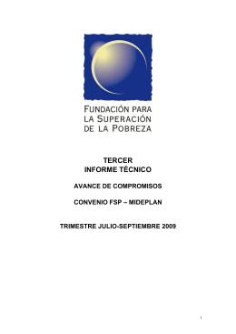 TERCER INFORME TÉCNICO - Fundación Superación de la Probreza