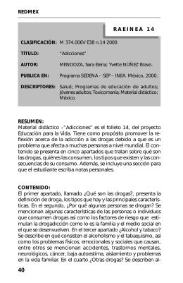 14. Adicciones - Biblioteca Digital CONEVyT