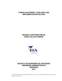 formulación de proyectos - Escuela de Ingeniería de Antioquia