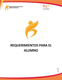 REQUERIMIENTOS PARA EL ALUMNO