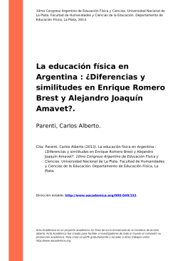 La educación física en Argentina : ¿Diferencias y