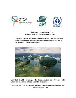 Manejo integrado y sostenible de los recursos hídrico