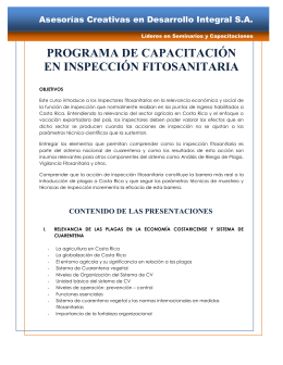 programa de capacitación en inspección fitosanitaria