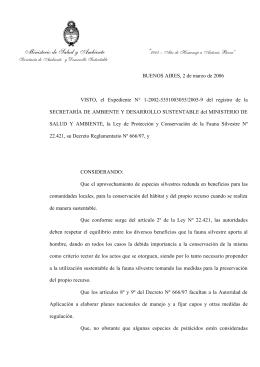 Resolucion Loros-Calas 203-06 - Secretaría de Ambiente y