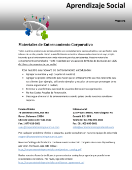 Aprendizaje Social - Corporate Training Materials