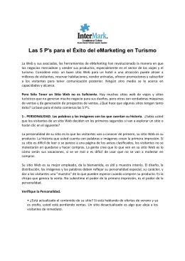 emarketing - T15. vW. Las 5Ps del eMarketing en Turismo