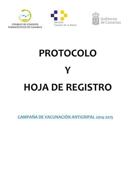 PROTOCOLO Y HOJA DE REGISTRO