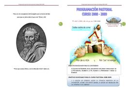 Programacin pastoral parroquia de Santiago 2008-2009
