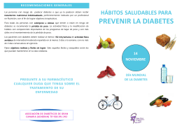 "Folleto ""Hábitos saludables para prevenir la diabetes"""