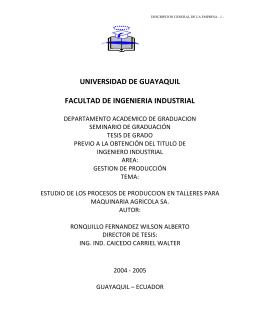 industrial 3190 - Repositorio Digital Universidad de Guayaquil