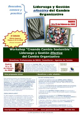 Liderazgo y Gestión efectiva del Cambio Organizativo