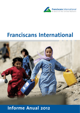 Franciscans International Informe Anual 2012