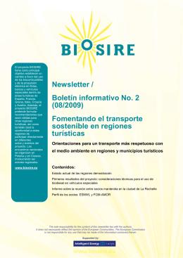 Newsletter / Boletín informativo No. 2 (08/2009