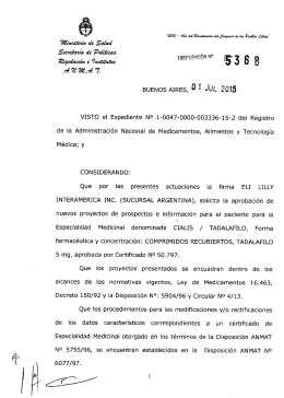 5368-15 eli lilly interamerica inc.- prospectos - m