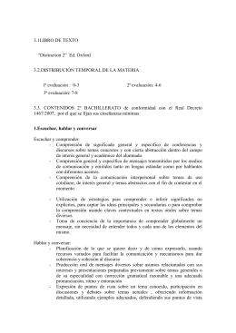 "3.1LIBRO DE TEXTO ""Distinction 2"" Ed. Oxford 3.2.DISTRIBUCIÓN"