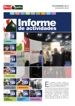 Informe Mensual de Actividades (Noviembre 2014)
