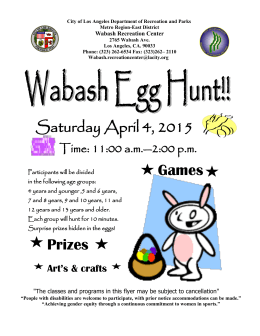 Saturday April 4, 2015 Prizes Games