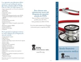 Ayuda financiera para atención médica